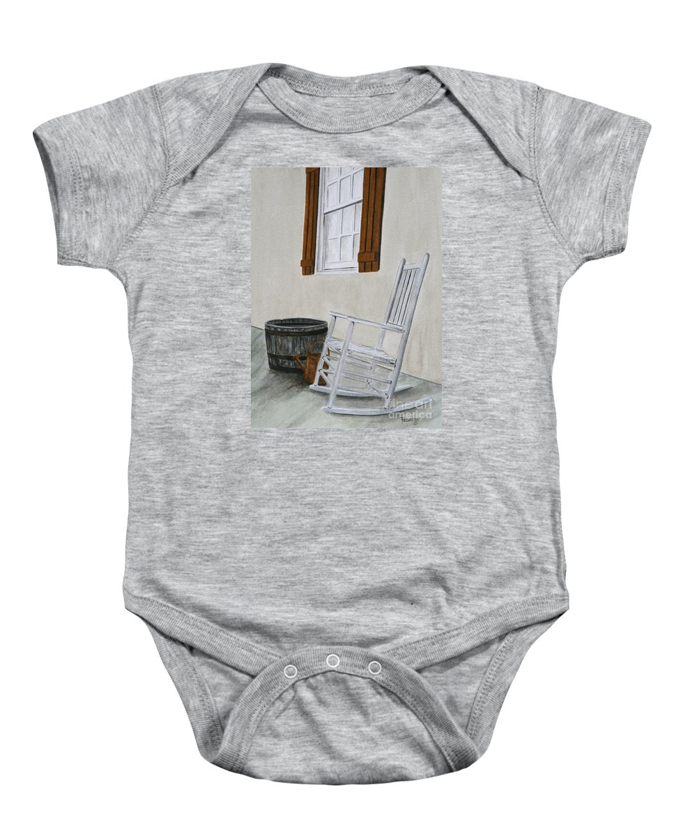 Americana Baby Onesie featuring the painting Lazy Day by Regan J Smith