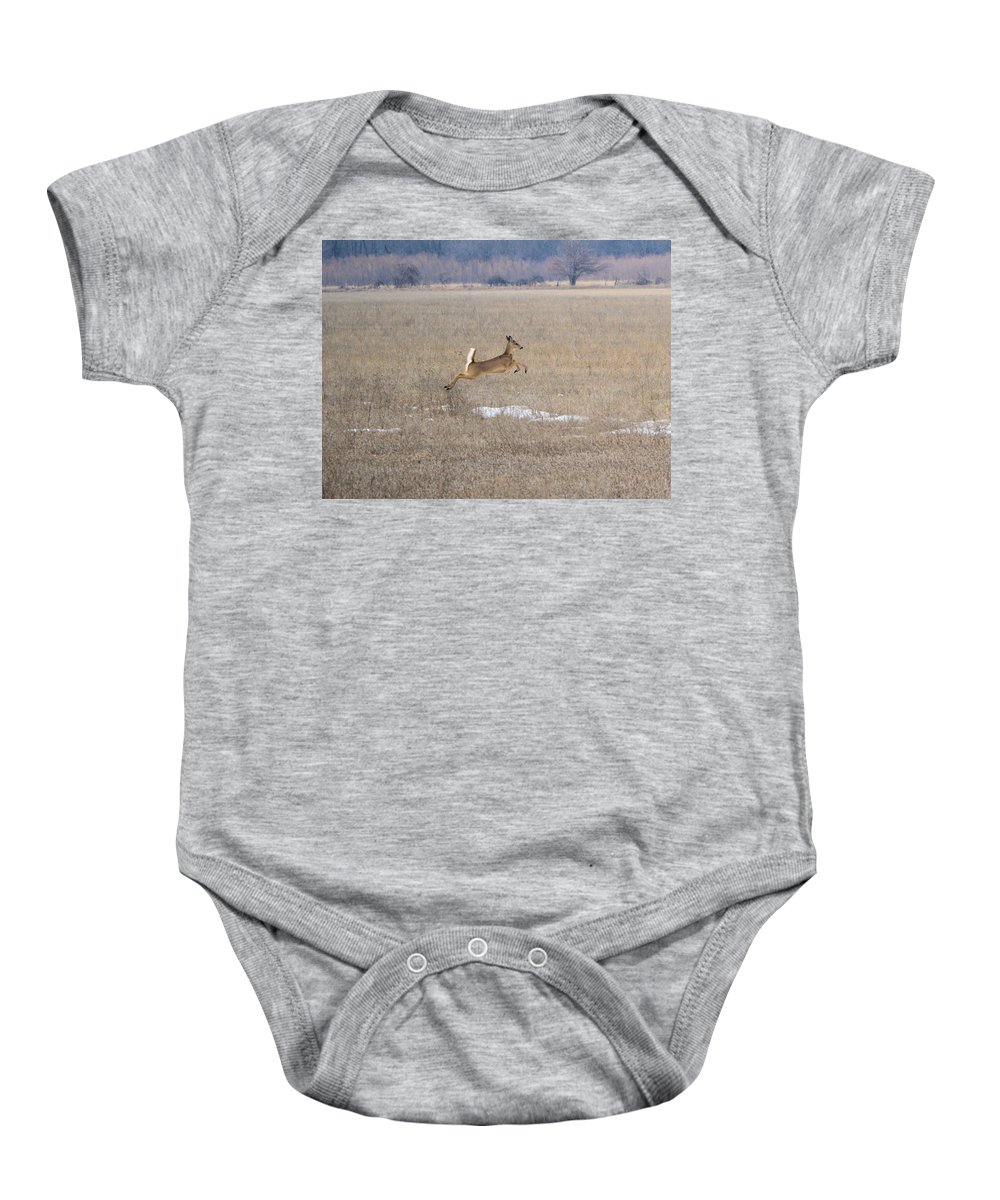 Deer Baby Onesie featuring the photograph Leaping by Bonfire Photography