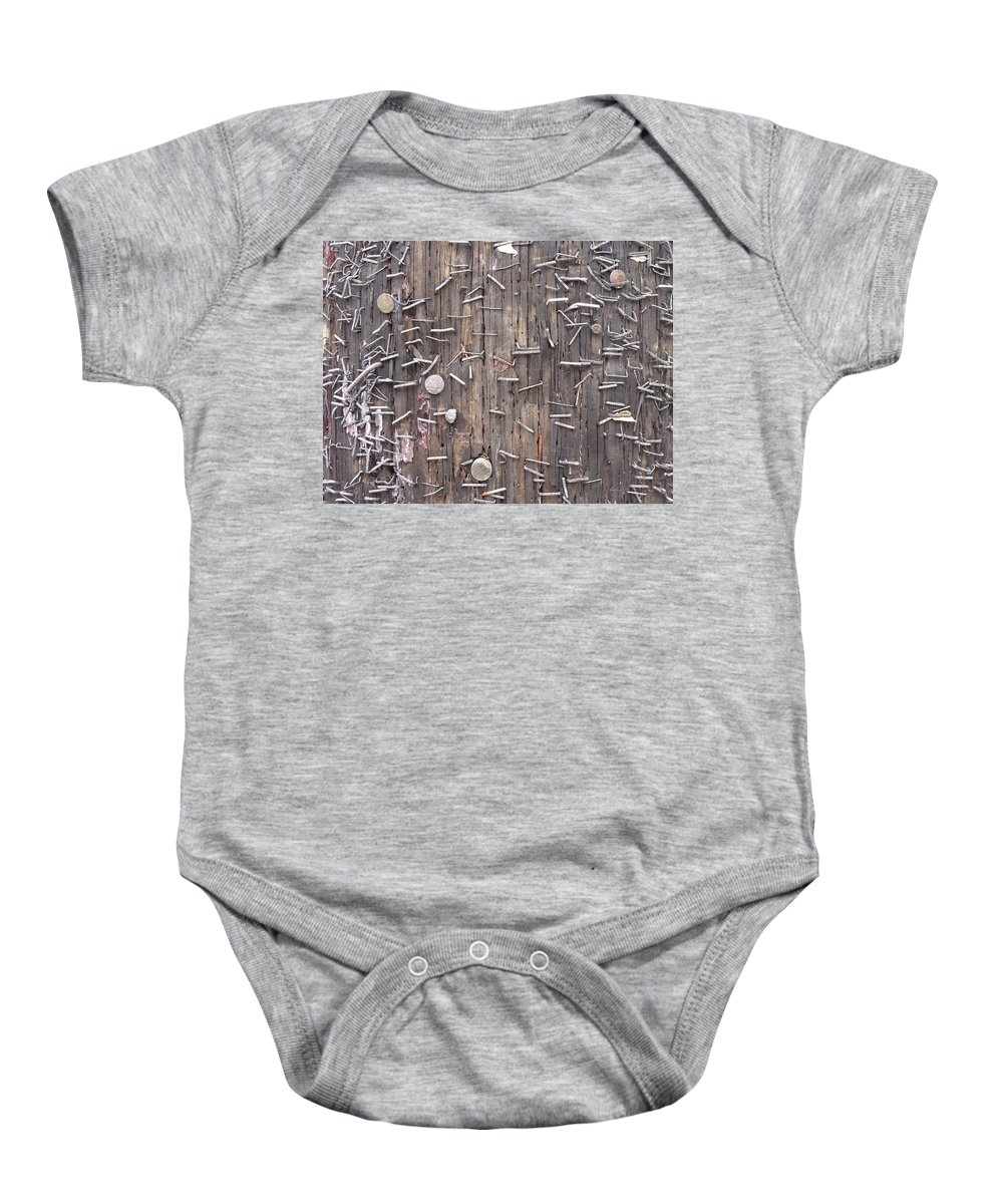 Staple Art Baby Onesie featuring the photograph Leave A Message by Ira Shander