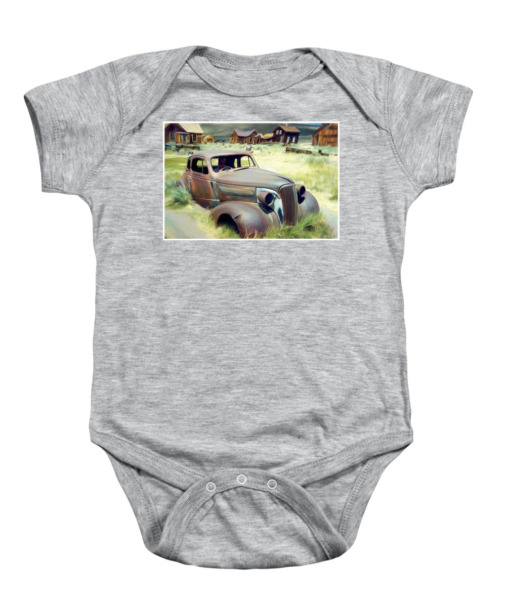Photography Baby Onesie featuring the digital art Leaving Bodie by Snake Jagger