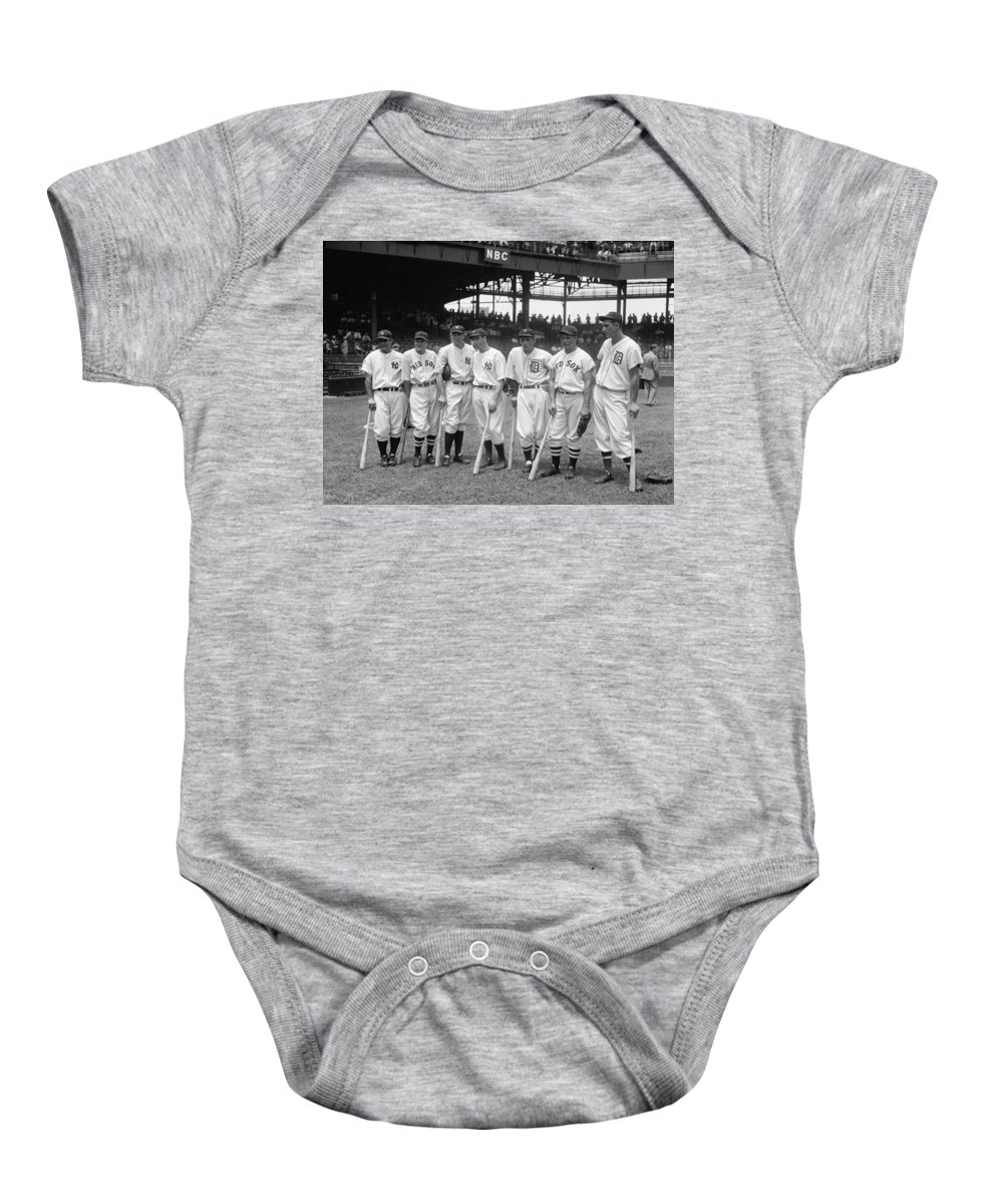 Baseball Baby Onesie featuring the photograph Legends Row by Mountain Dreams