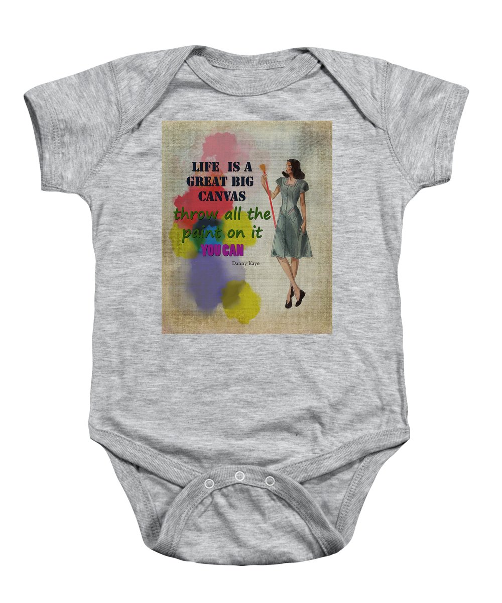 Artist Baby Onesie featuring the digital art Life Is A Canvas by Terry Fleckney