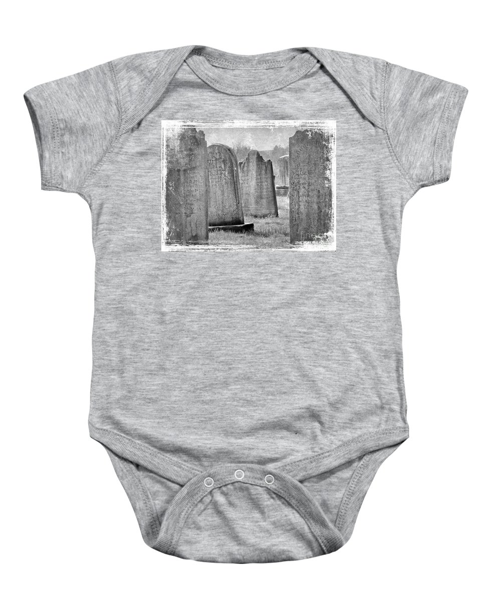 Grave Baby Onesie featuring the photograph Life Isn't Black And White by Mother Nature
