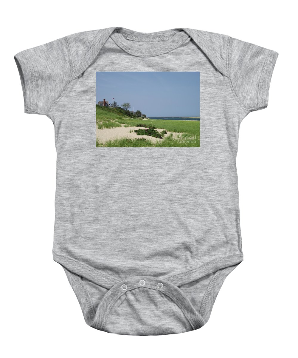 Beach Baby Onesie featuring the photograph Light House Beach by Michelle Welles
