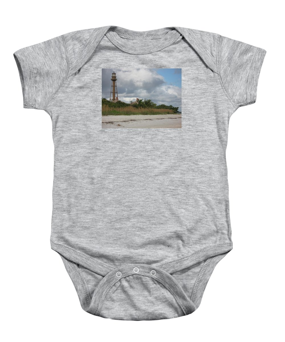 Ligthouse Baby Onesie featuring the photograph Sanibel Island Light by Christiane Schulze Art And Photography