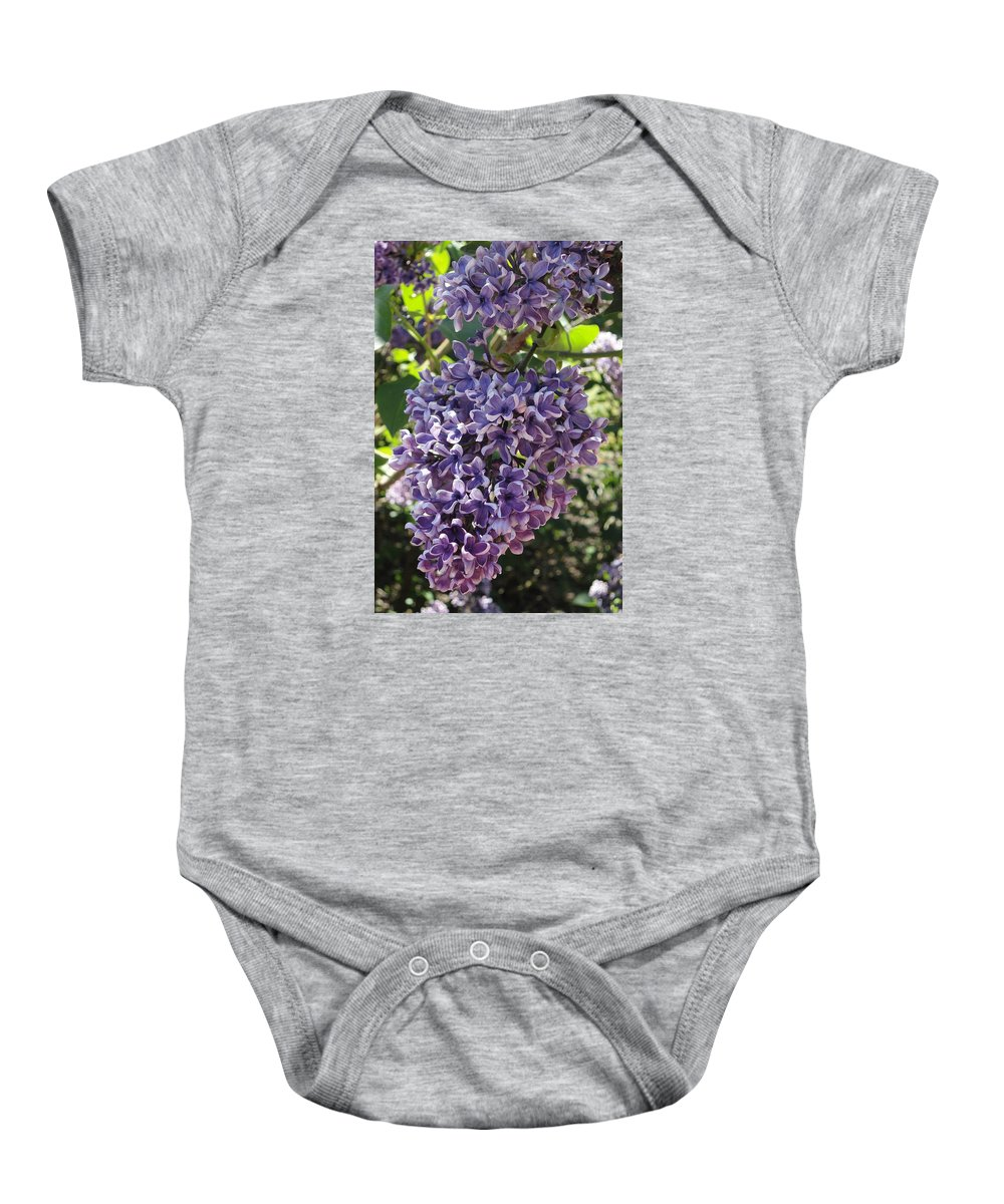 Lilacs Baby Onesie featuring the photograph Lilac Beauty by Angie Narus
