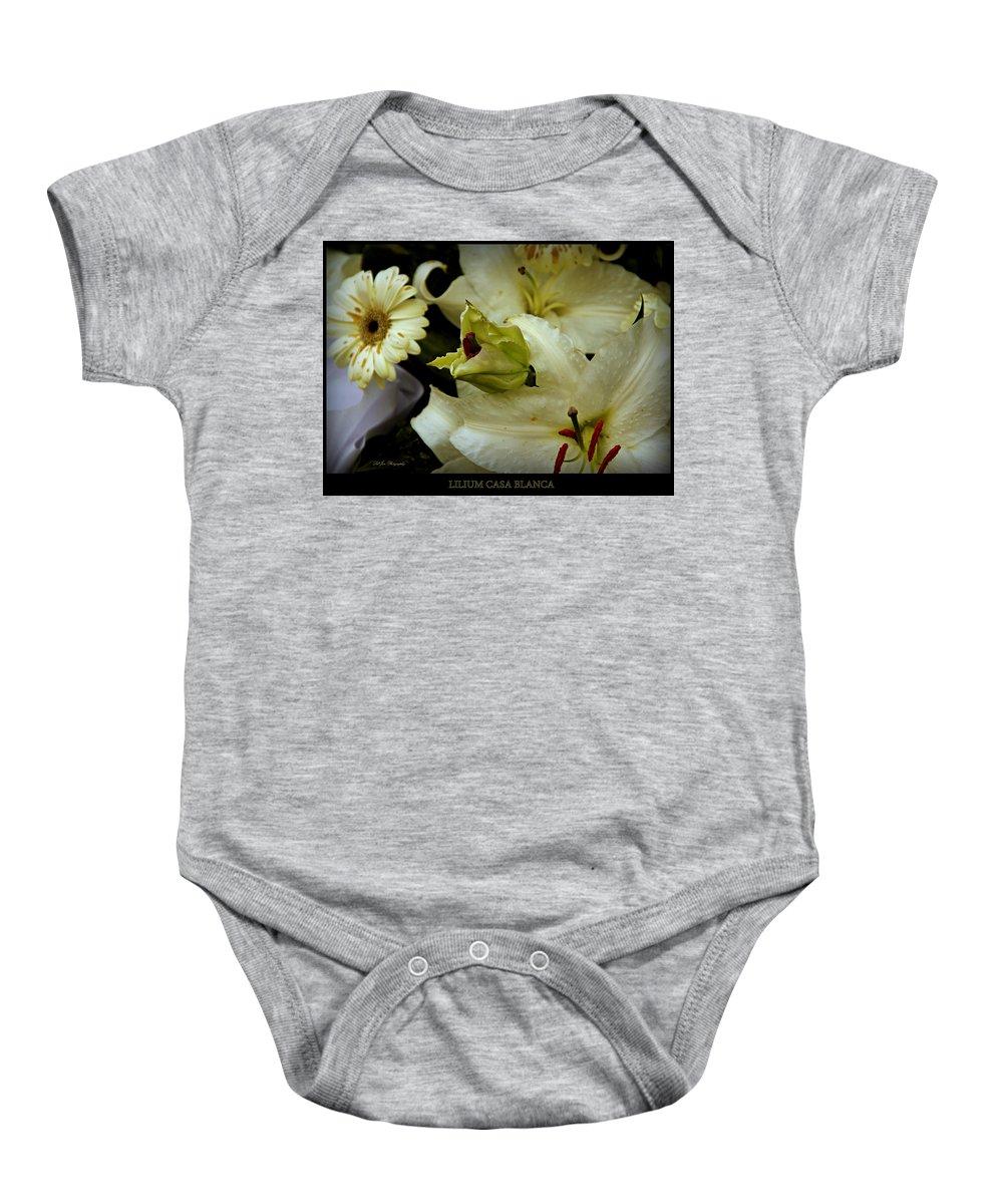 Flower Baby Onesie featuring the photograph Lilium Casa Blanca by Jeanette C Landstrom