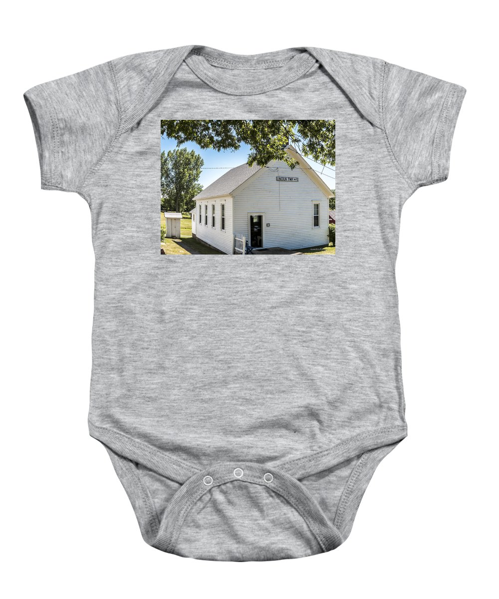 Rural School Baby Onesie featuring the photograph Lincoln Twp. No. 5 by Edward Peterson