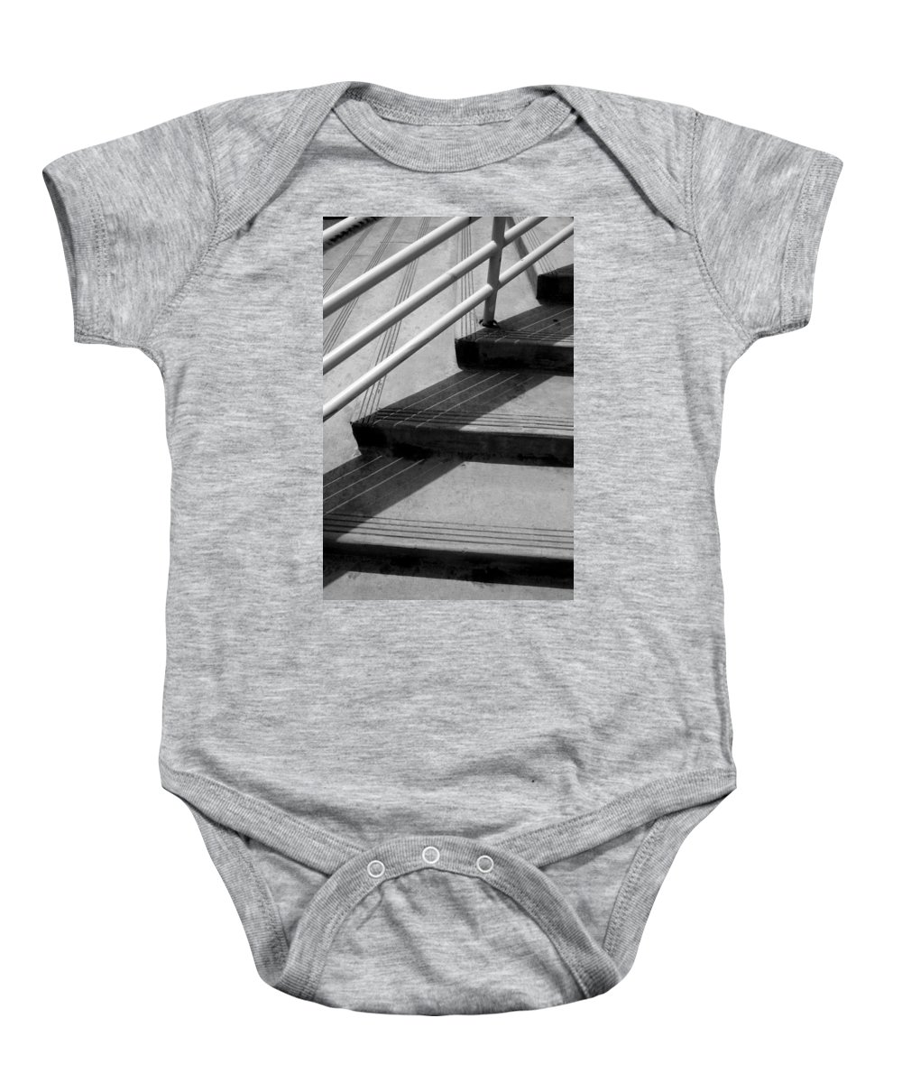 Architecture Baby Onesie featuring the photograph Linear In Four Four Time by Joe Kozlowski