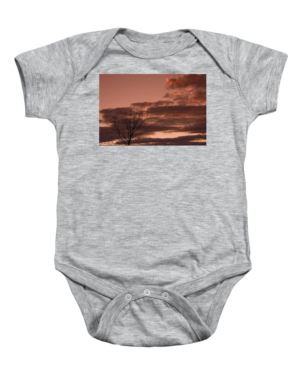 Sunset Baby Onesie featuring the photograph Little Girl Blue - In Memory Of Karen by Hany J