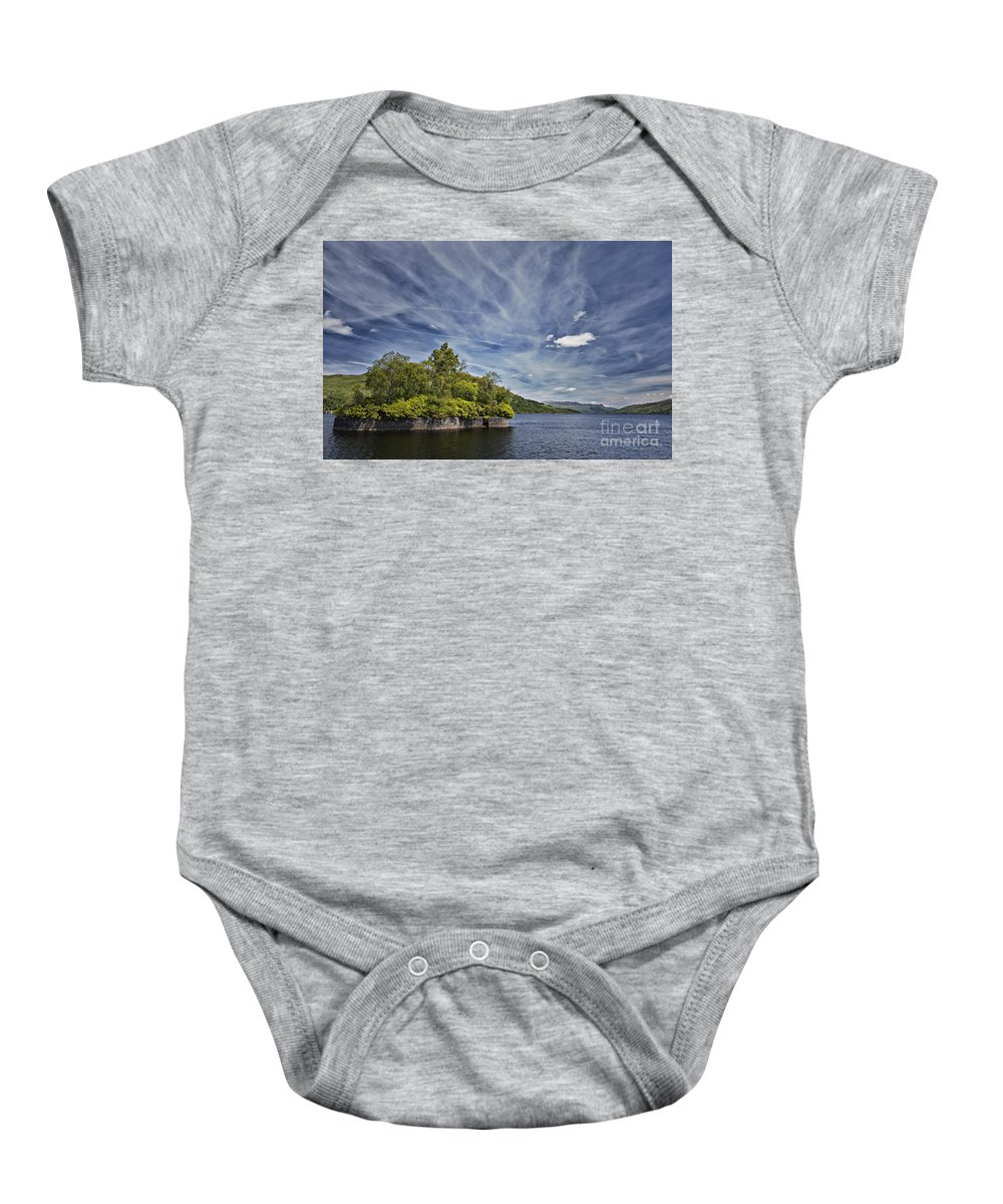 Factors Isle Baby Onesie featuring the photograph Loch Katrine Landscape by Sophie McAulay