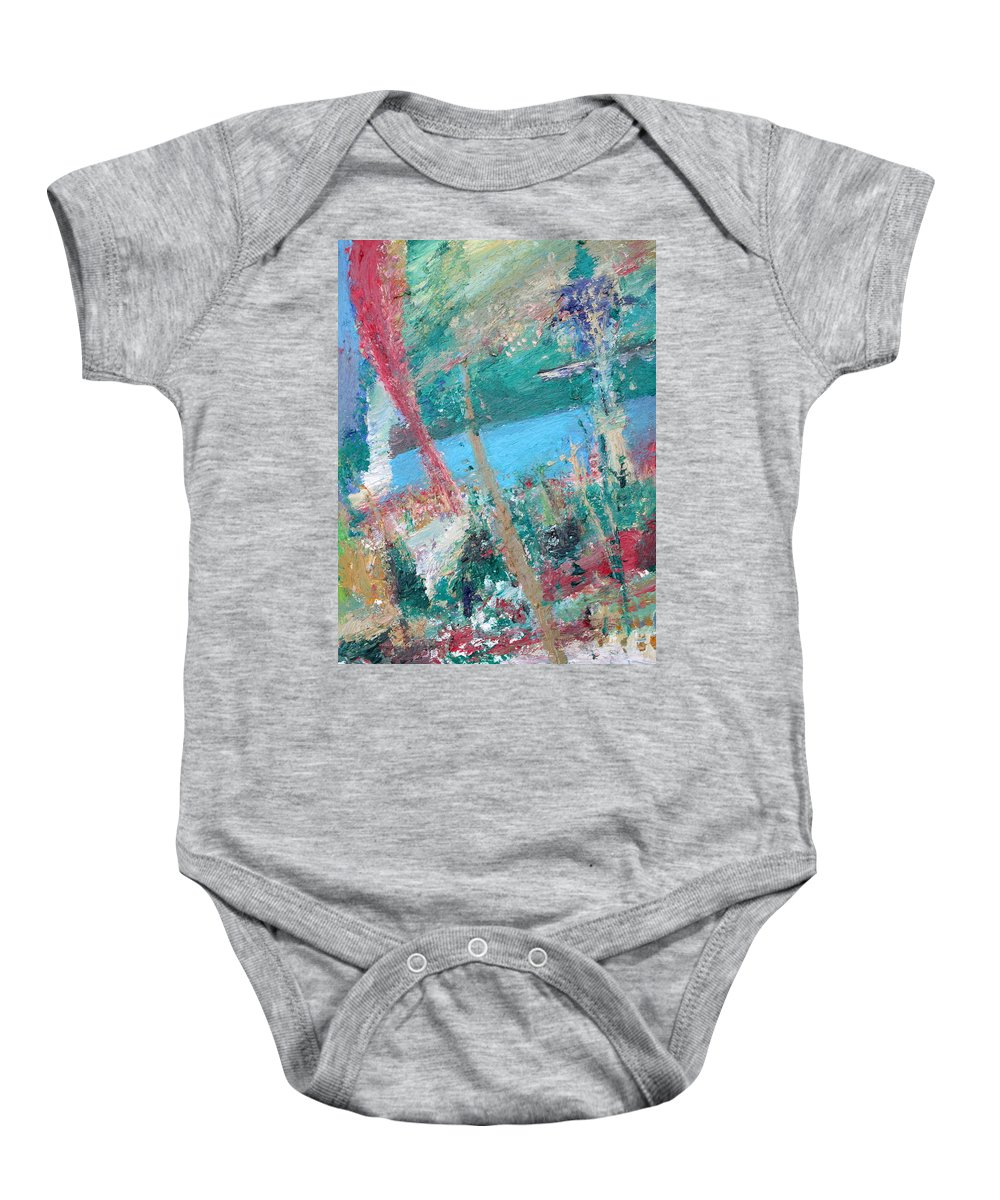 Lake Baby Onesie featuring the painting Loch Ness by Fabrizio Cassetta