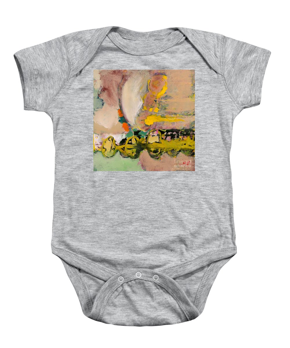 Landscape Baby Onesie featuring the painting Locomotion by Allan P Friedlander