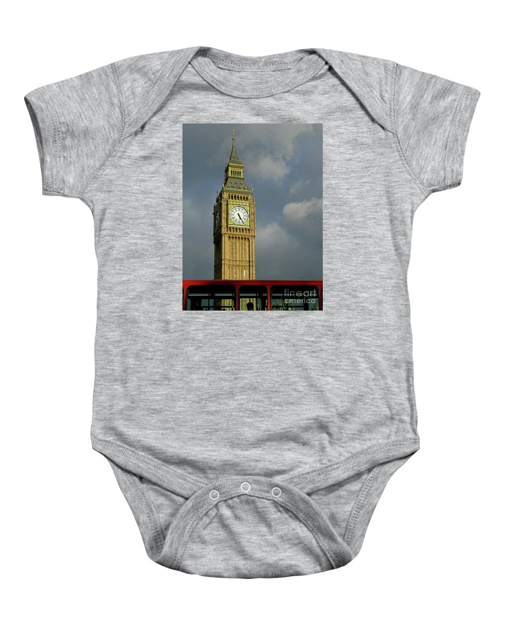 London Icons By Ann Horn Baby Onesie featuring the photograph London Icons by Ann Horn