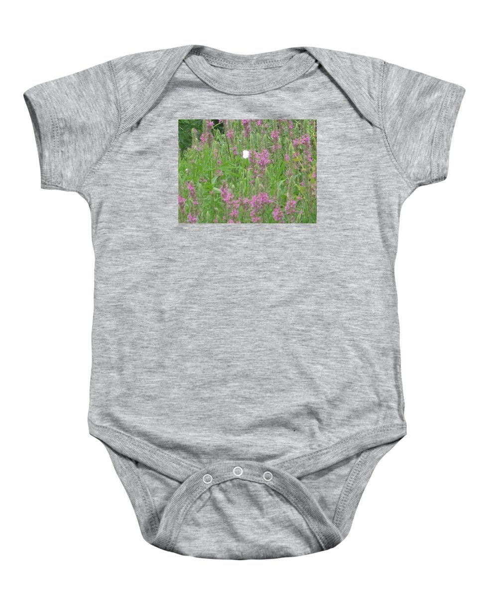 Butterfly Baby Onesie featuring the photograph Lone Butterfly by Sol Maria Rivera