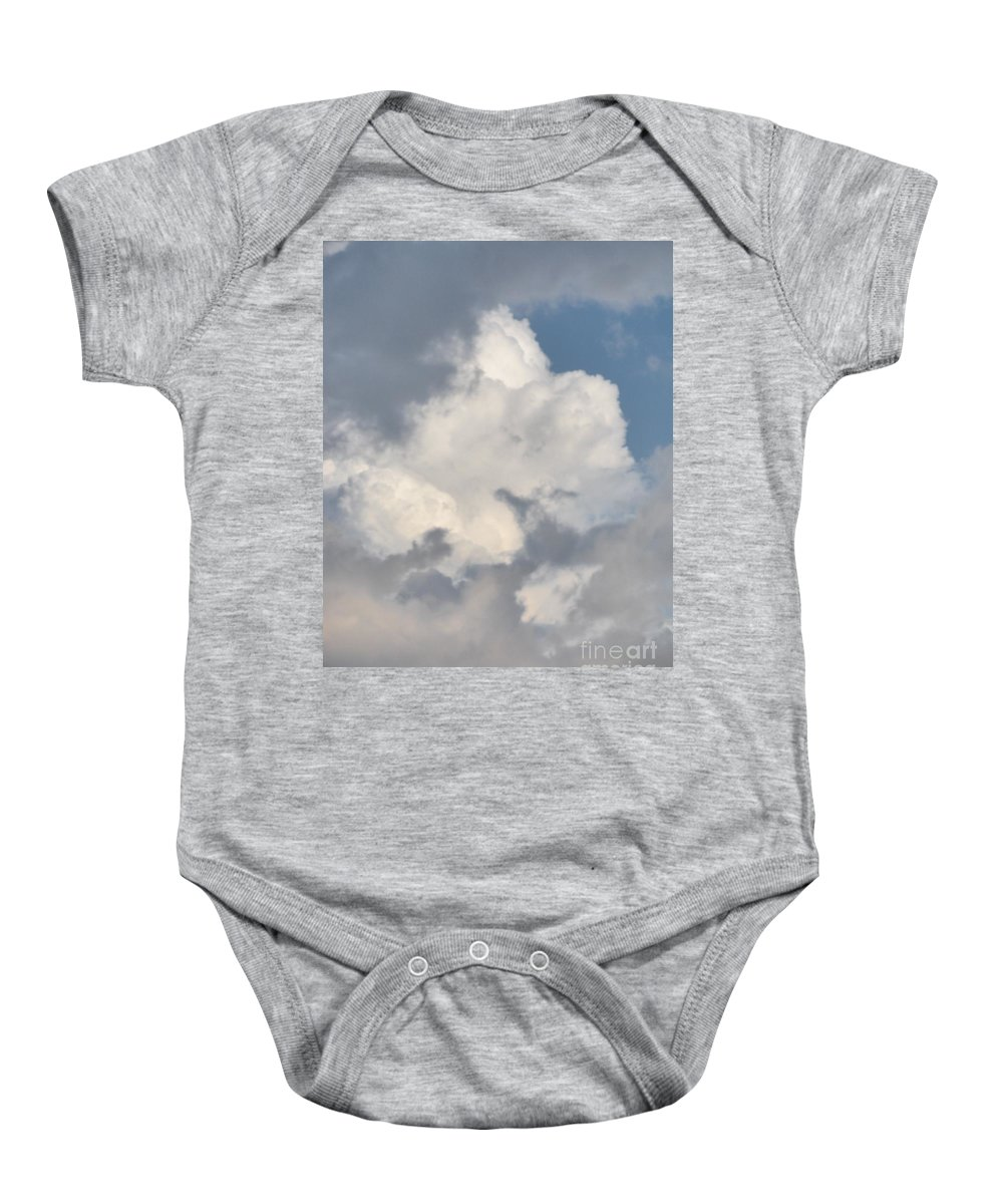 Cloud Baby Onesie featuring the photograph Lone Cloud by Joseph Baril