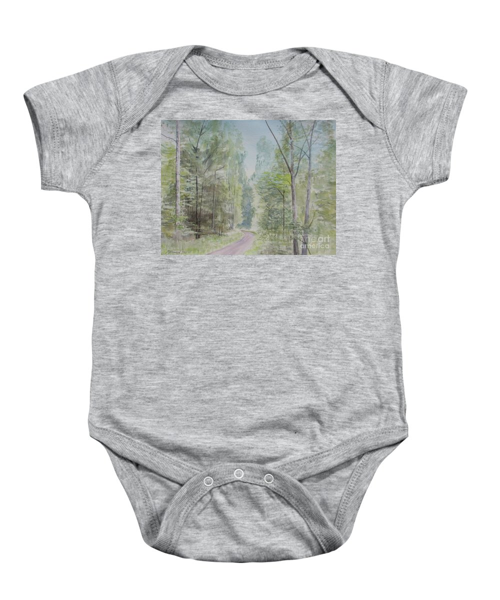Looking Back Baby Onesie featuring the painting Looking Back by Martin Howard