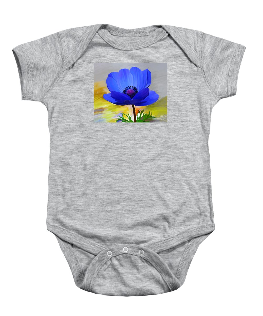 Fine Art Baby Onesie featuring the mixed media Lord Lieutenant by Patricia Griffin Brett