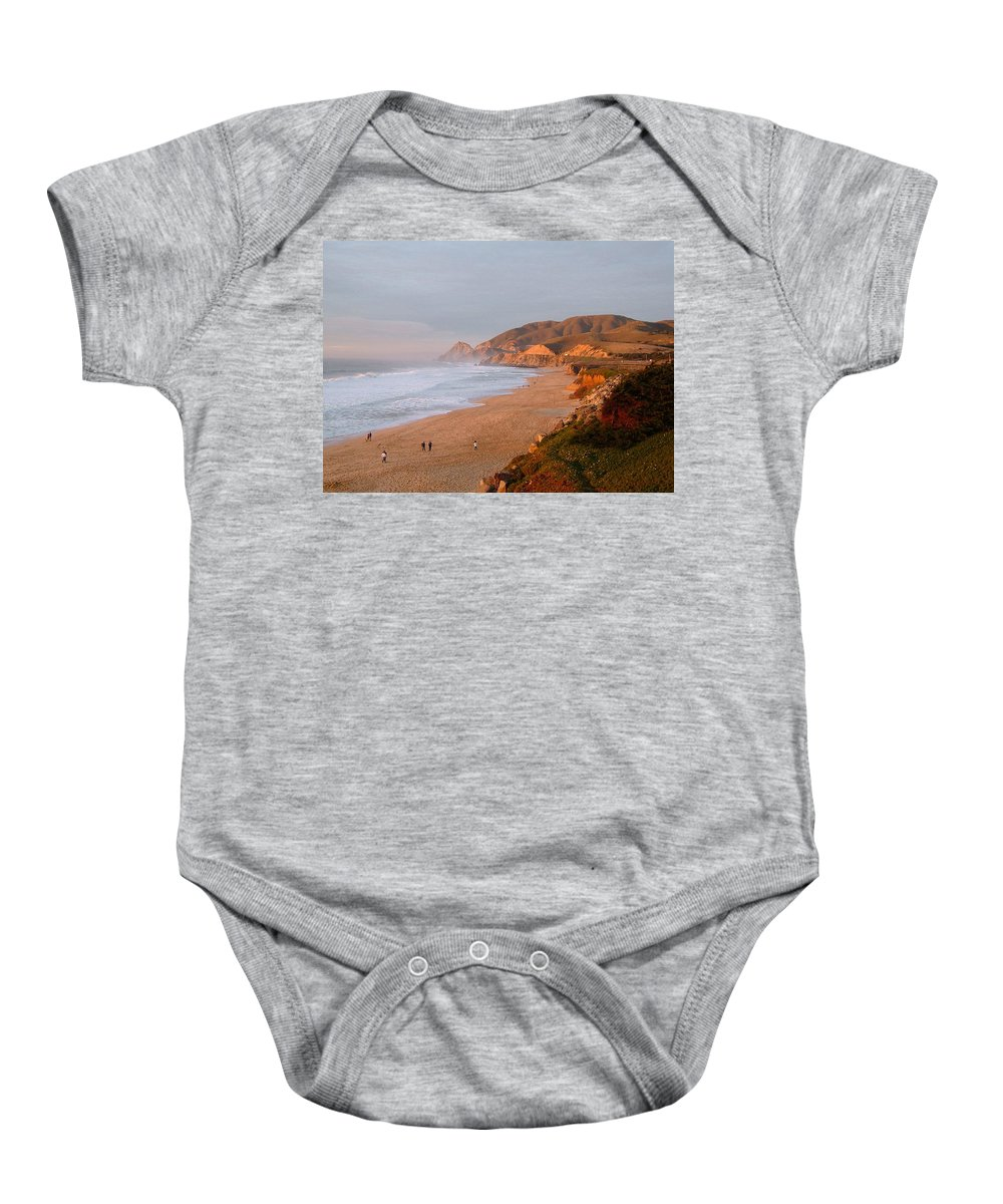 Route 1 Baby Onesie featuring the photograph Low Sun On The Pacific by Susan Wyman