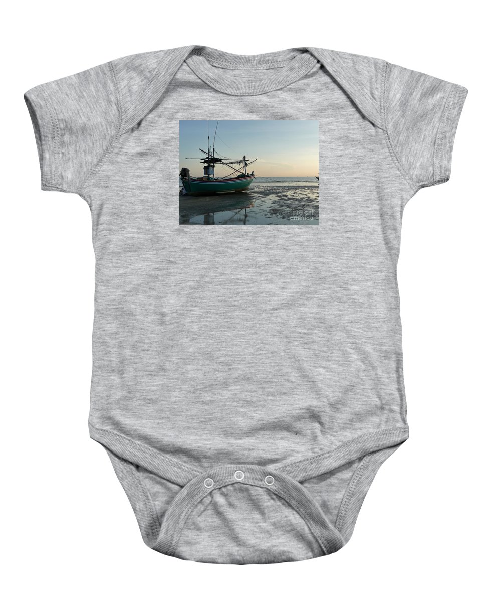 Seascape Baby Onesie featuring the photograph Low Tide by Pusita Gibbs