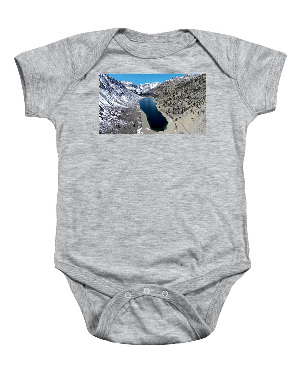 Above Baby Onesie featuring the photograph Lundy Lake by David Levy