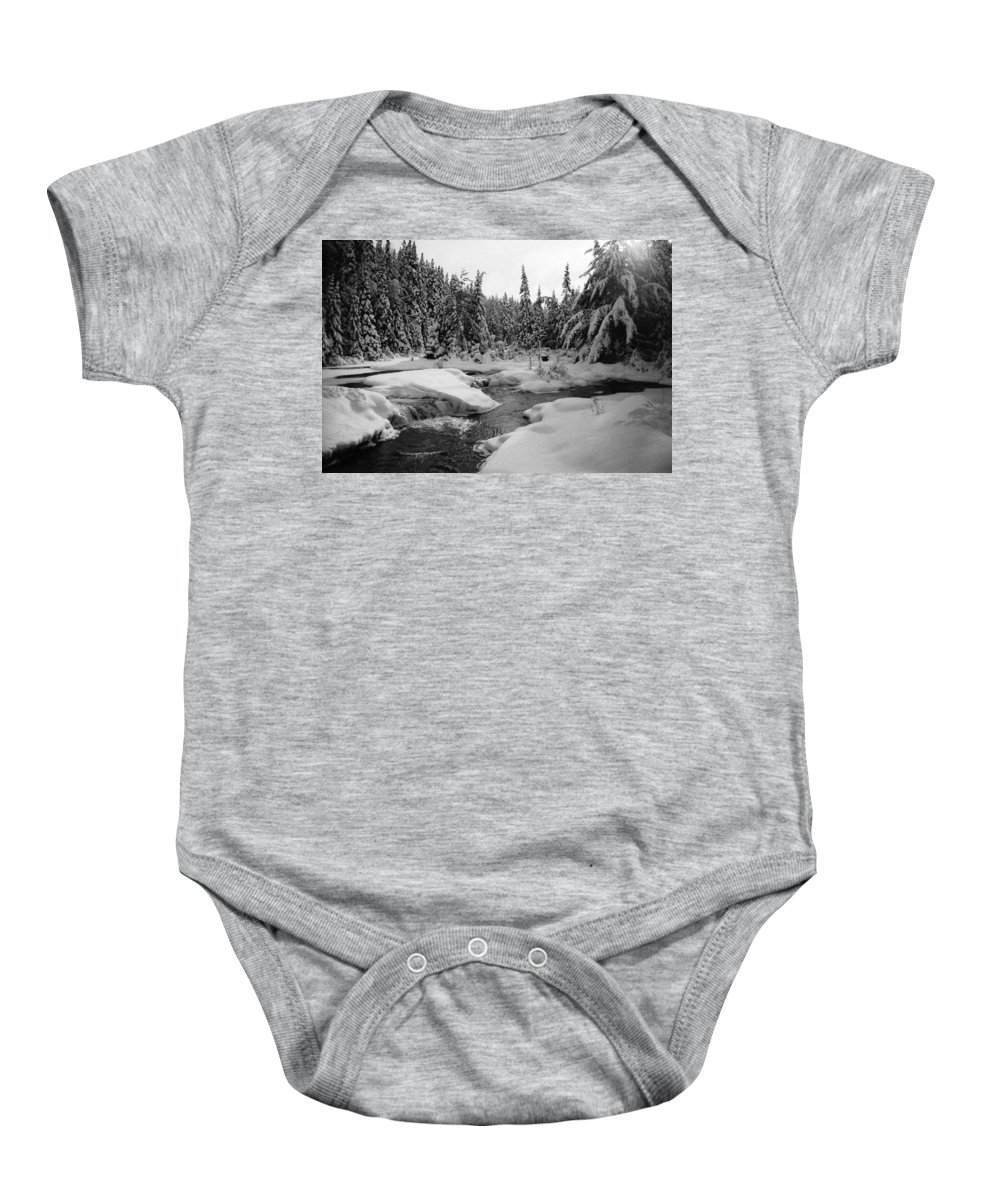 River Baby Onesie featuring the photograph Madawaska River by David Porteus