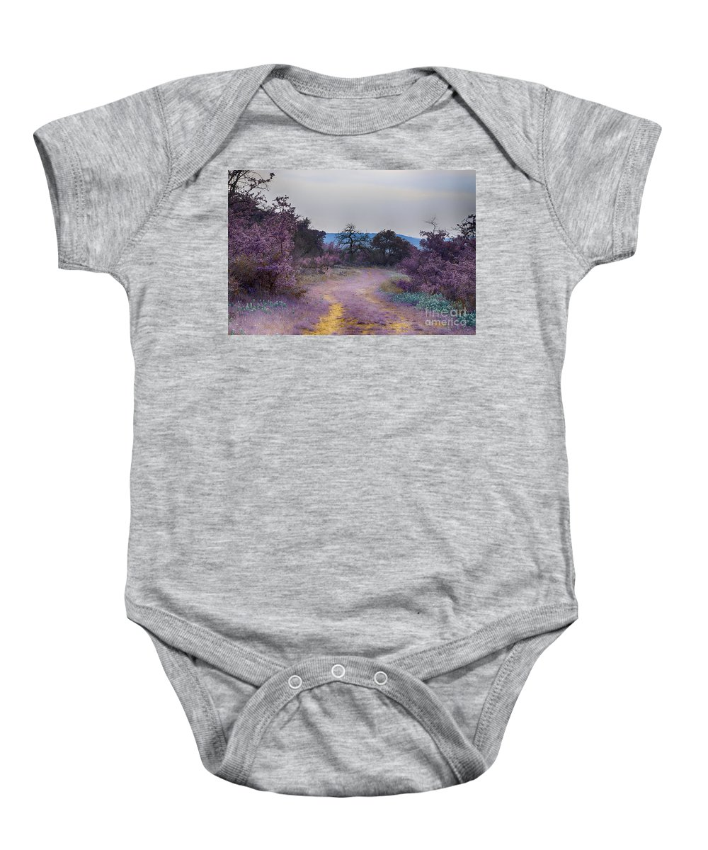 Road Baby Onesie featuring the photograph Magical Landscape by Douglas Barnard