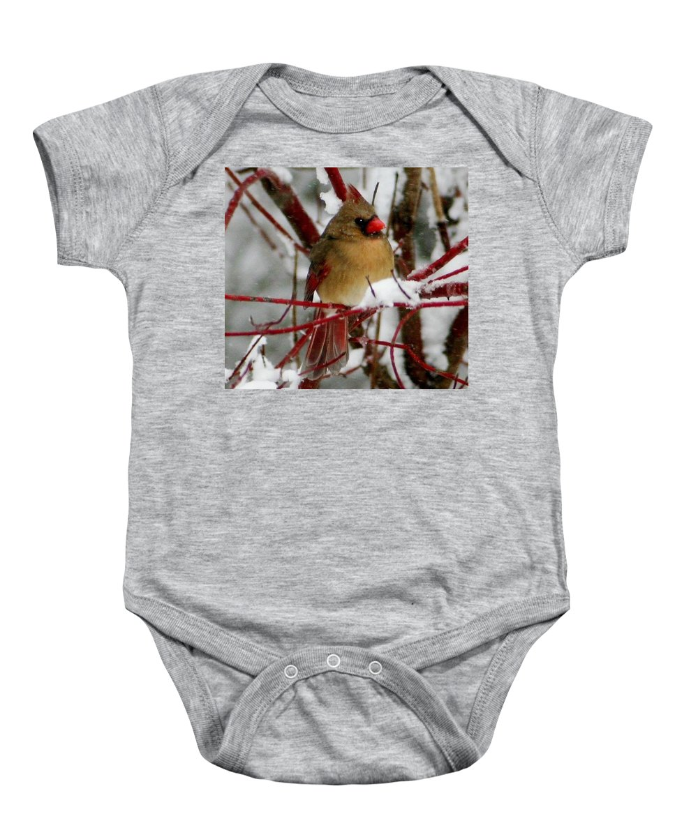 Macro Baby Onesie featuring the photograph Majestic by Barbara S Nickerson