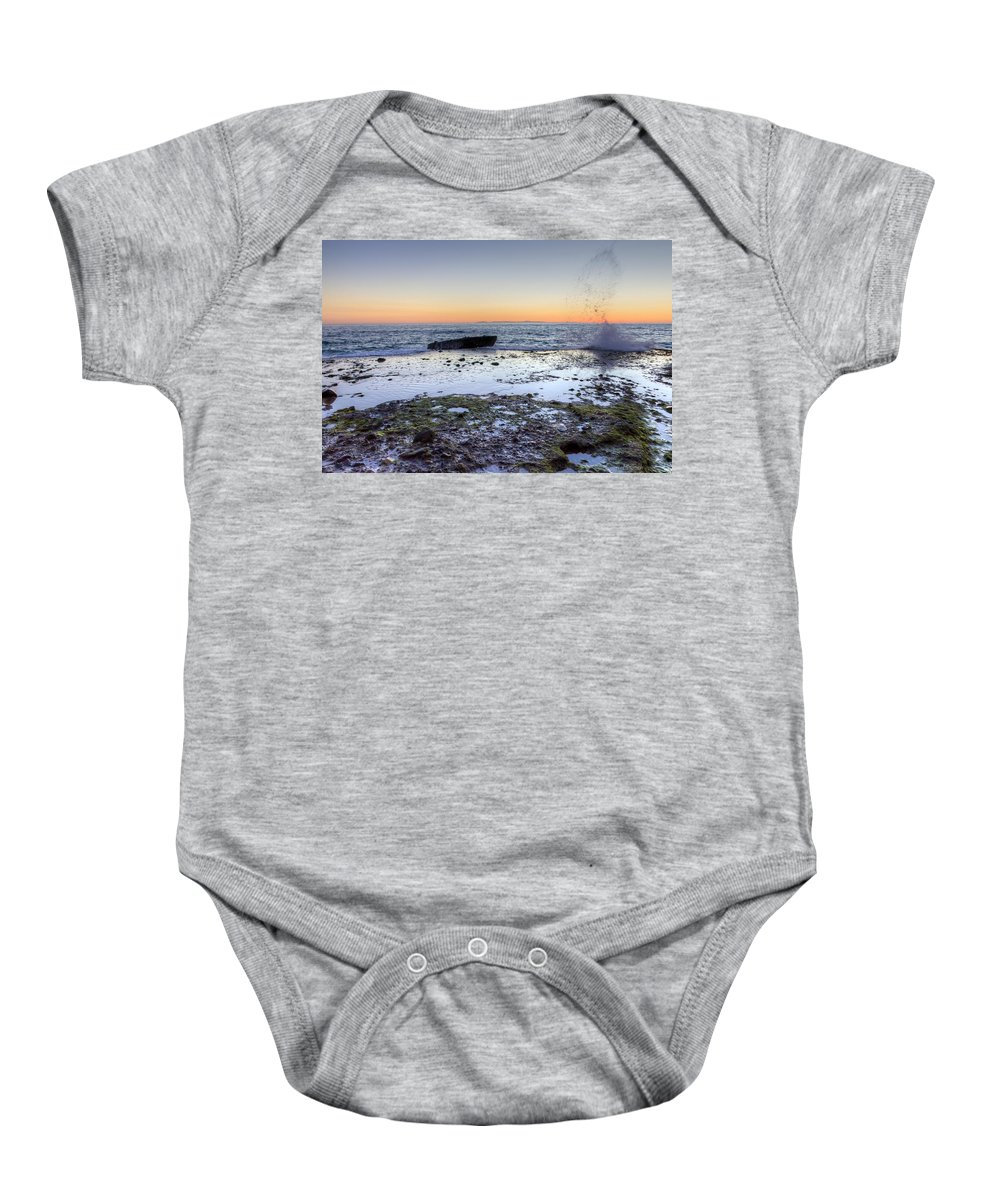 Bay Baby Onesie featuring the photograph Make A Splash by Heidi Smith