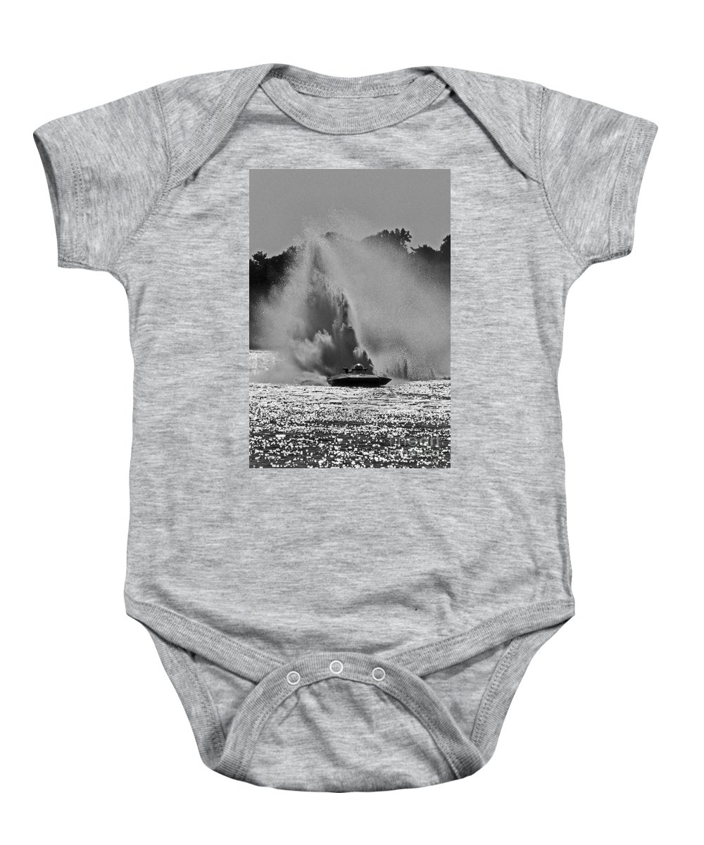 Maritime Baby Onesie featuring the photograph Making Rain by Skip Willits