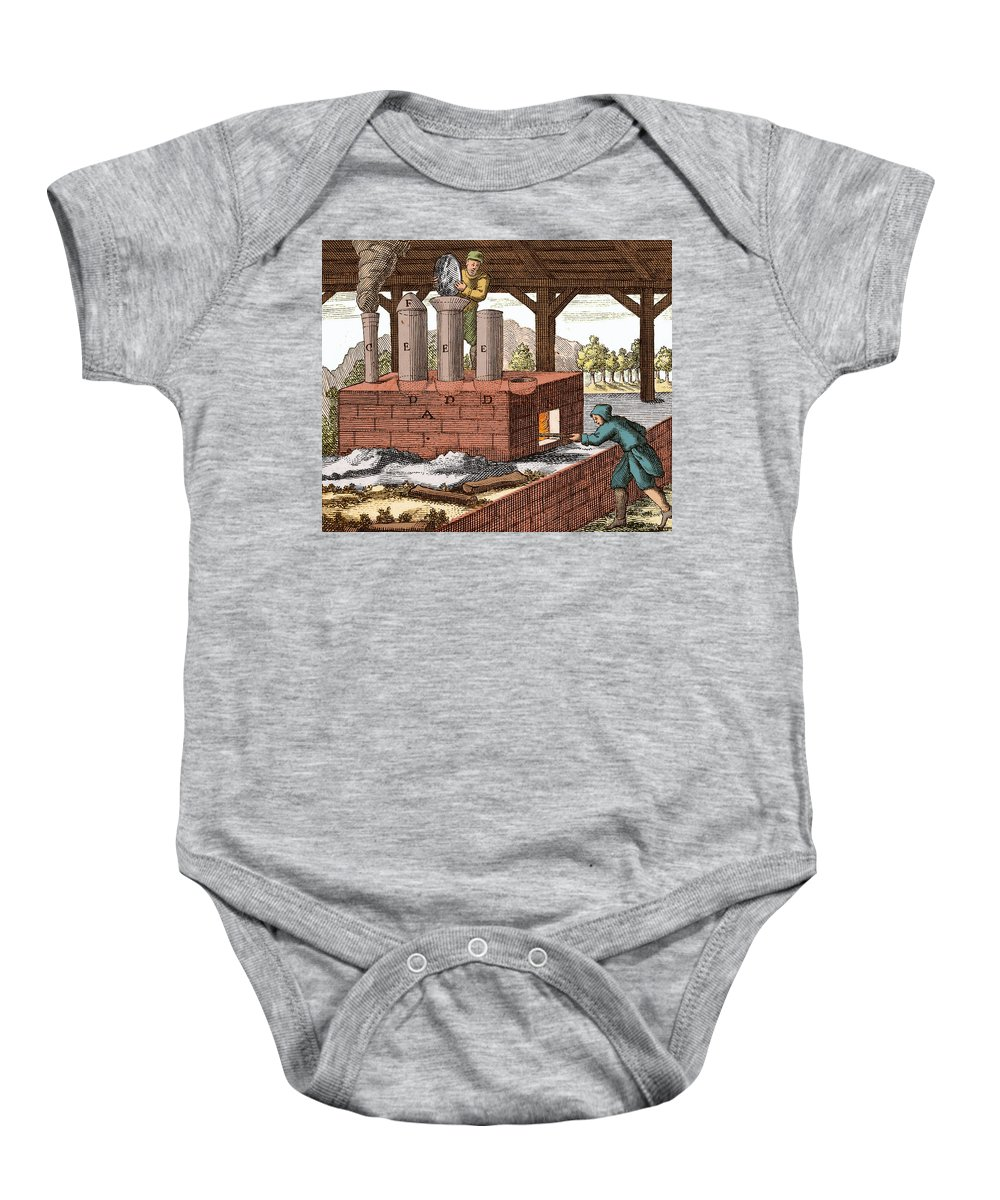 History Baby Onesie featuring the photograph Manufacture Of Arsenic, 1704 by Wellcome Images