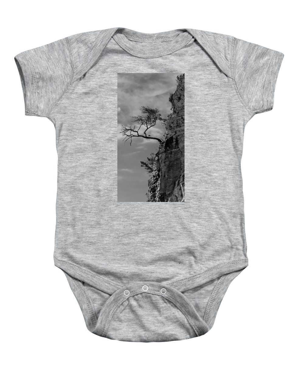 Cliff Baby Onesie featuring the photograph Marine Cliff by Michele Mule