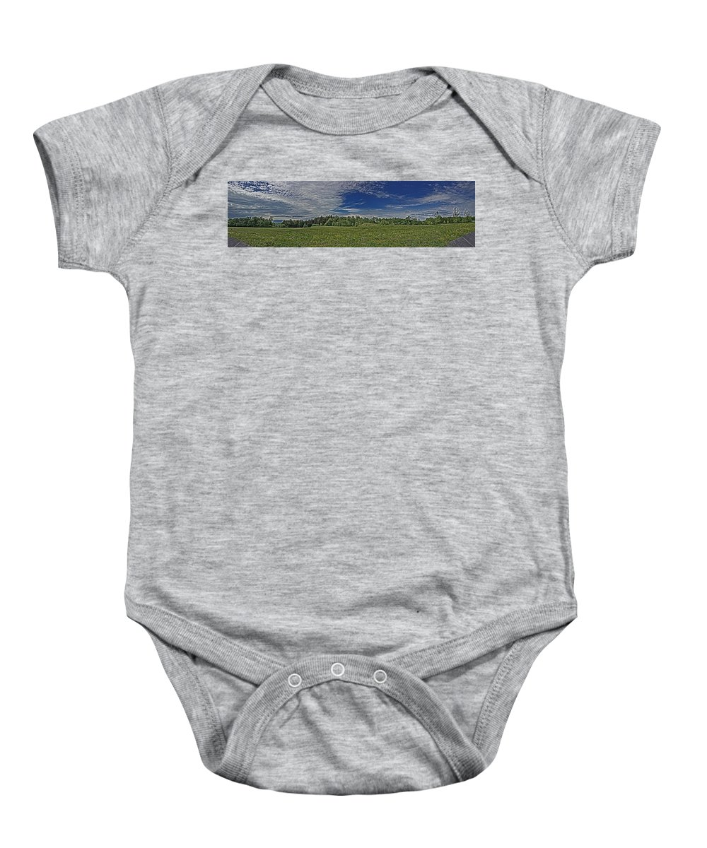 Landscape Baby Onesie featuring the photograph Marred Beauty Flight 93 by Tom Gari Gallery-Three-Photography