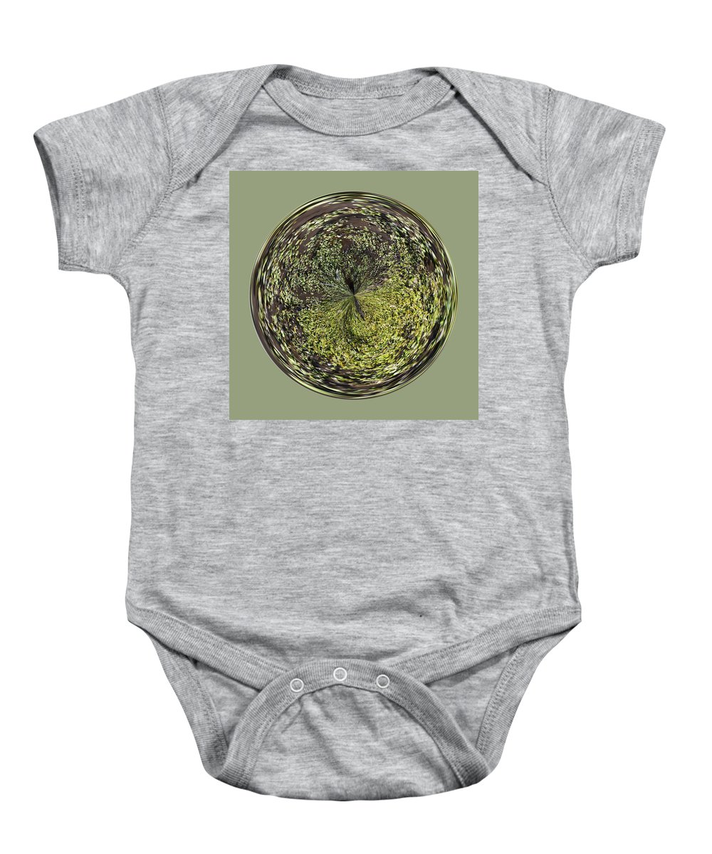 Orb Baby Onesie featuring the photograph Marsh Orb by Brent Dolliver