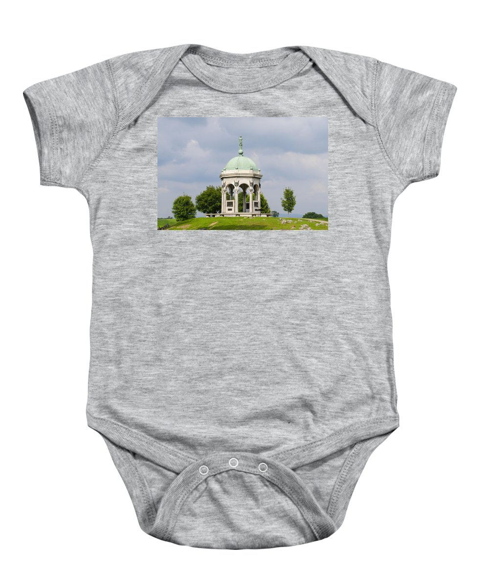 Maryland Baby Onesie featuring the photograph Maryland Monument - Antietam National Battlefield by Bill Cannon
