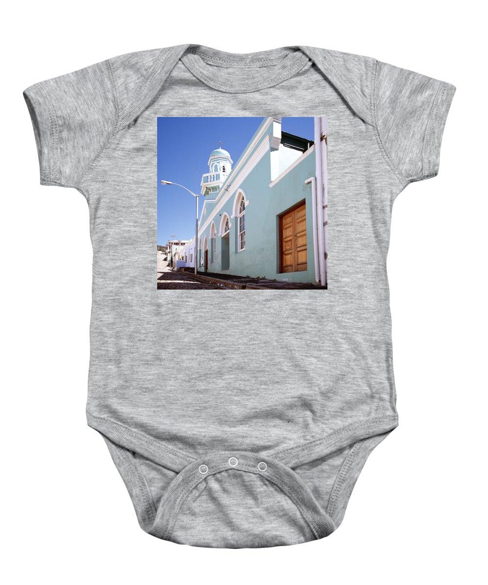 Bo Kaap Baby Onesie featuring the photograph Masjid Boorhaanol Bo Kaap by Shaun Higson