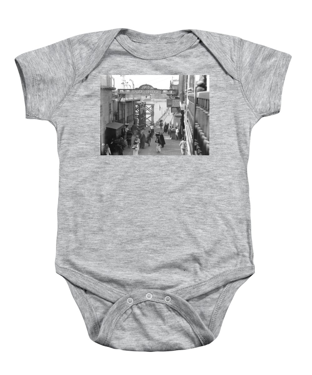 1932 Baby Onesie featuring the photograph Maude Bridge In Baghdad by Underwood Archives