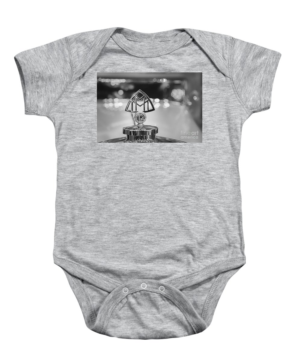 1932 Maybach Zeppelin Ds8 Baby Onesie featuring the photograph Maybach Zeppelin by Dennis Hedberg