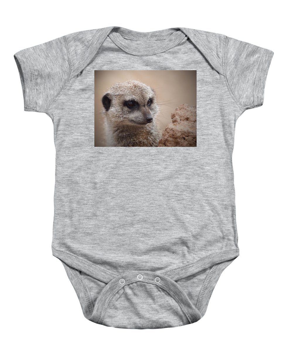 Meerkat Baby Onesie featuring the photograph Meerkat 7 by Ernie Echols