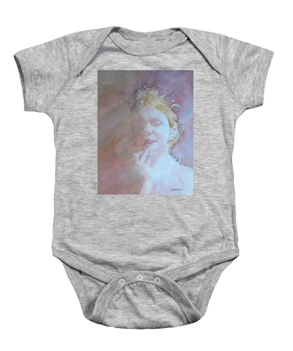 Romance Baby Onesie featuring the painting Memories Of Romance by Jenny Armitage