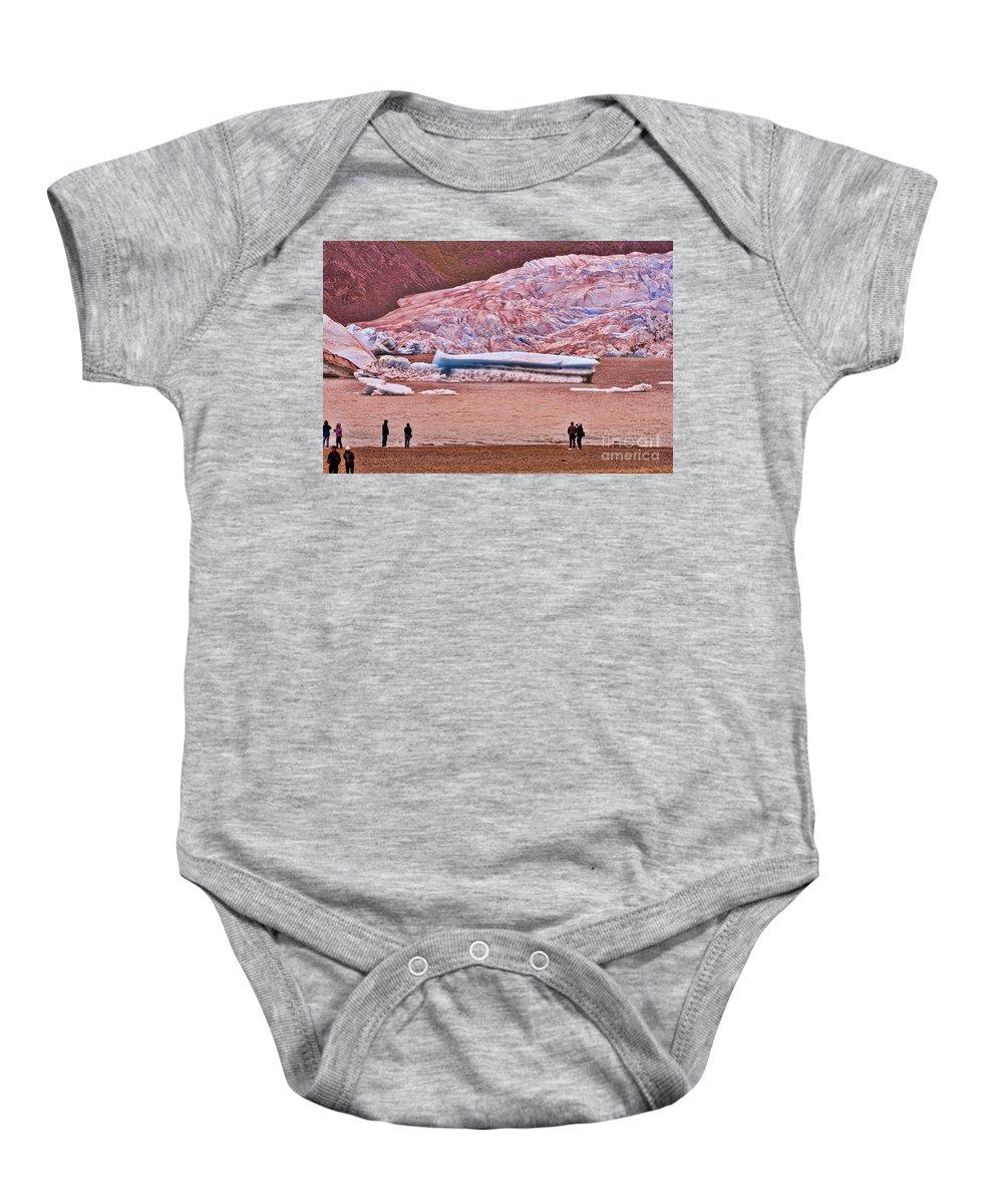 Mendenhall Glacier Baby Onesie featuring the photograph Mendenhall Glacier Juneau 2 by Allen Beatty