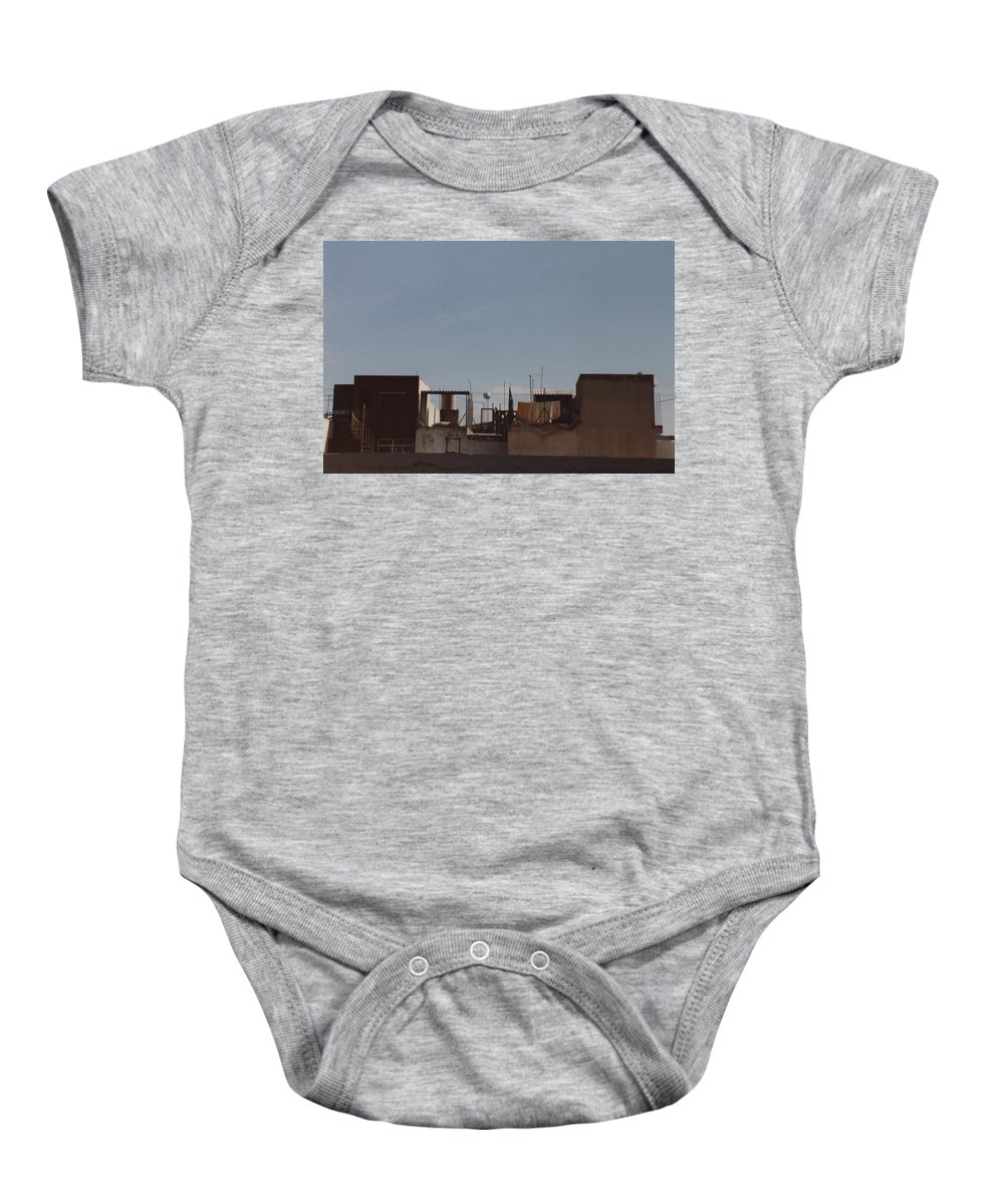 Mexico Baby Onesie featuring the photograph Mexico Rooftop By Tom Ray by First Star Art