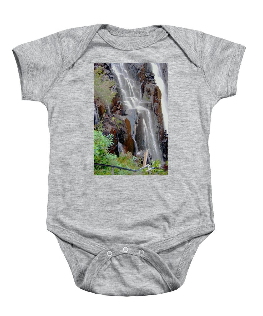 Photography Baby Onesie featuring the photograph Mist From The Falls by Blair Stuart