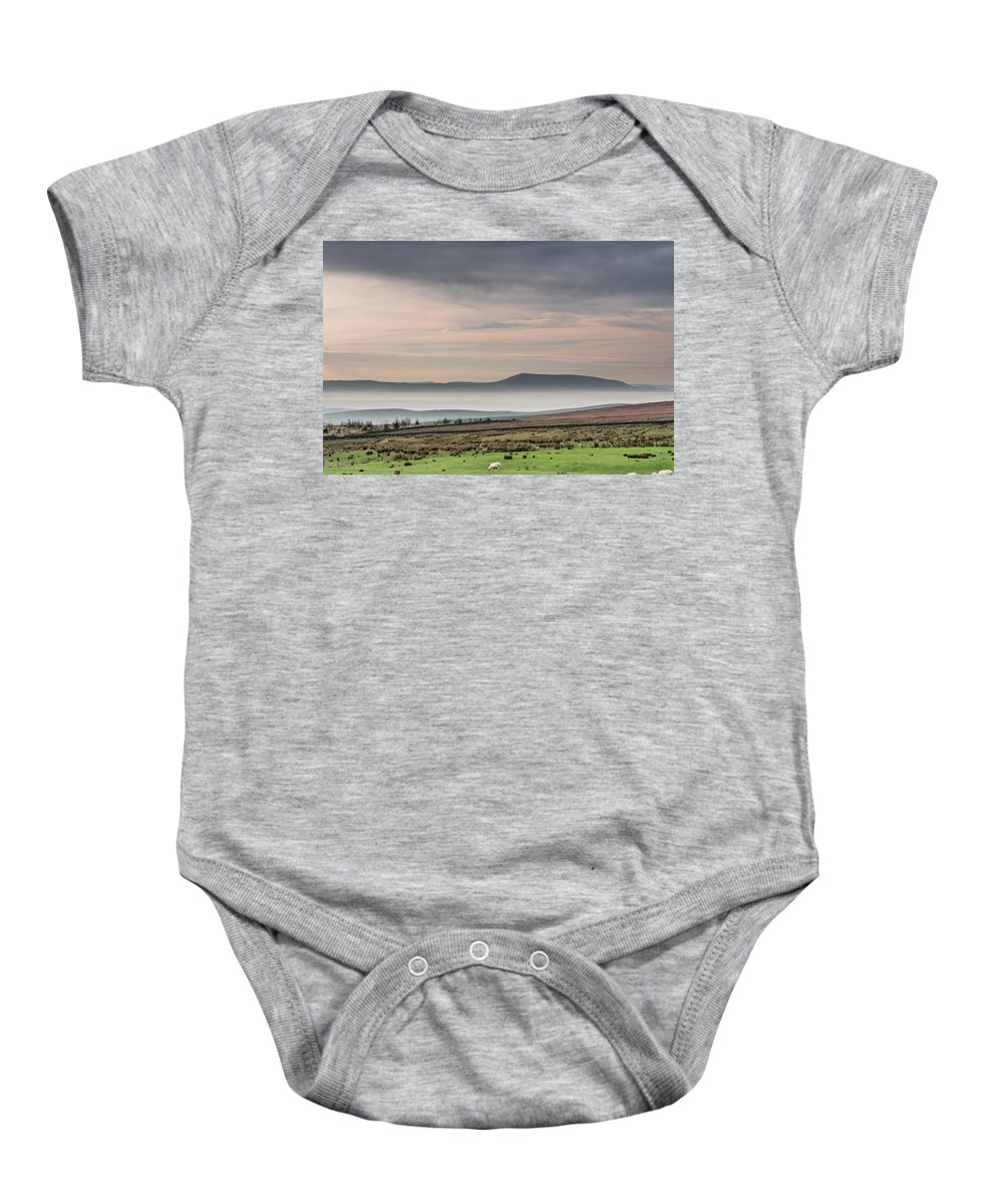 British Baby Onesie featuring the photograph Mist In The Valley by David Head