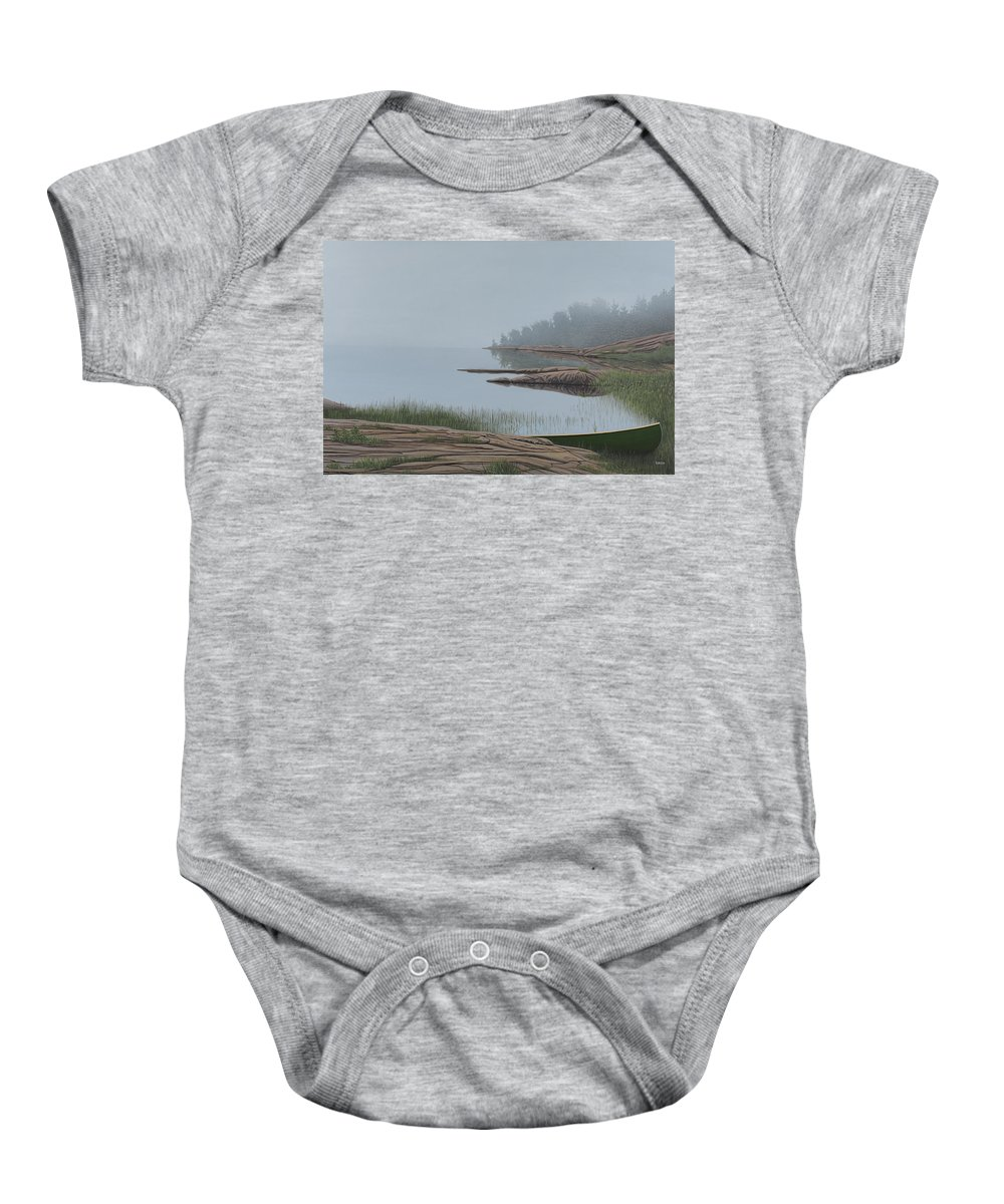 Landscapes Baby Onesie featuring the painting Mistified by Kenneth M Kirsch