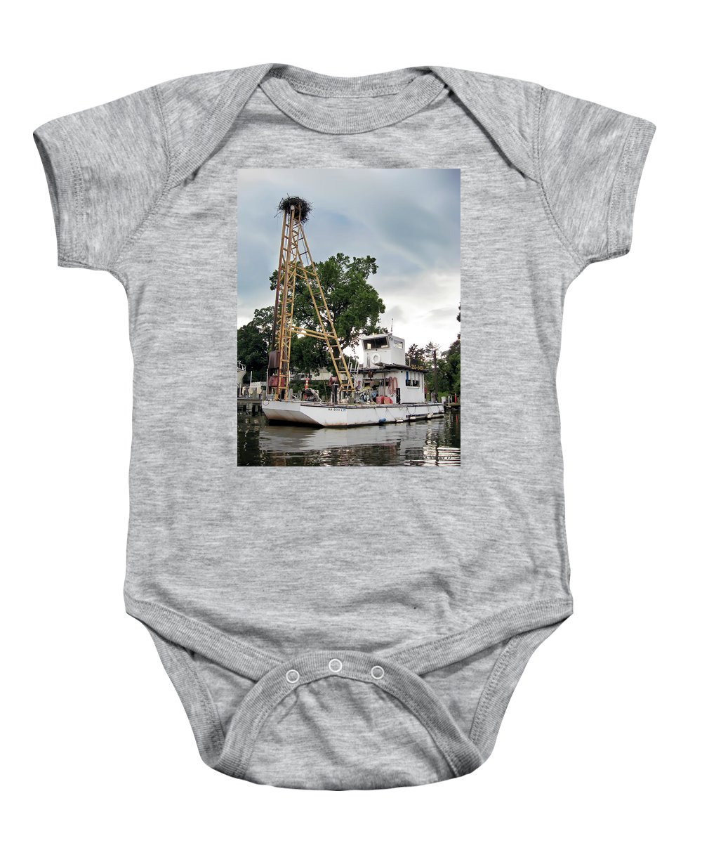 2d Baby Onesie featuring the photograph Mobile Osprey Nest by Brian Wallace