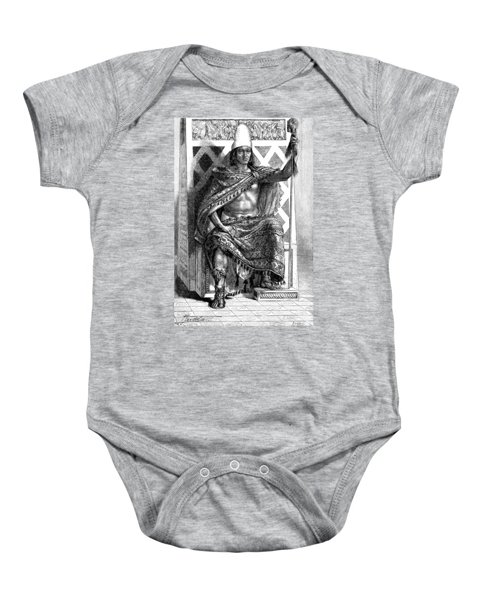 History Baby Onesie featuring the photograph Moctezuma II, Ninth Tlatoani, Aztec by British Library
