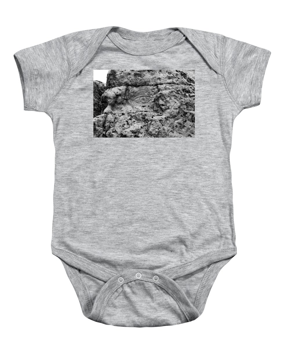 Black And White Baby Onesie featuring the photograph Modern Hieroglyphics Viii by Karen Tagstrom
