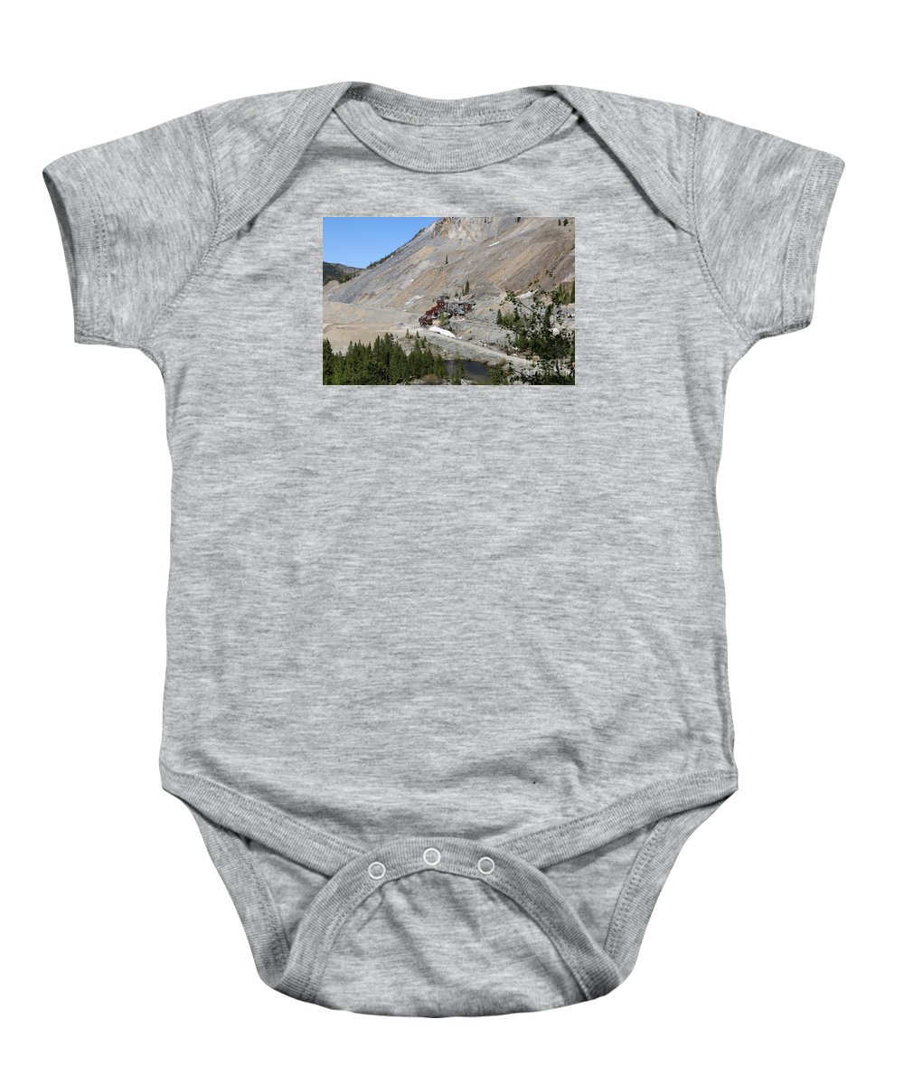 Colorado Baby Onesie featuring the photograph Monarch Mine - Monarch Pass Colorado by Christiane Schulze Art And Photography