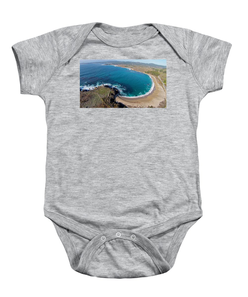 Above Baby Onesie featuring the photograph Monastery Beach by David Levy